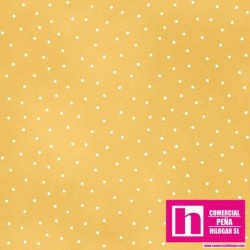 P0017-MAS8119-S3 PATCH. AMERICANO BEAUTIFUL BASICS-SCATTERED DOT (96) 110 CM. ALG 100% AMARILLO/BLANCO VENTA EN PZAS. DE 7 M