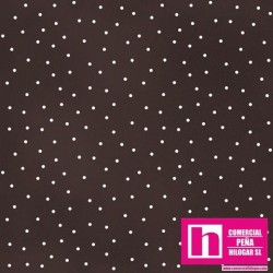 P0017-MAS8119-AJ PATCH. AMERICANO BEAUTIFUL BASICS-SCATTERED DOT (94) 110 CM. ALG 100% CHOCOLATE/BLANCO VENTA EN PZAS. DE 7 M