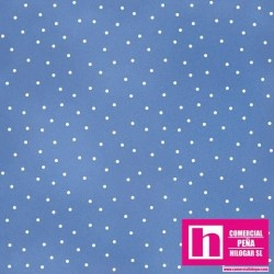 P0017-MAS8119-B3 PATCH. AMERICANO BEAUTIFUL BASICS-SCATTERED DOT (107) 110 CM. ALG 100% CELESTE/BLANCO VENTA EN PZAS. DE 7 M