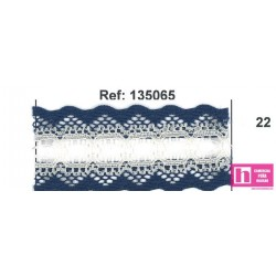 135065-22 GALON PASACINTAS NYLON GERMAN 30 MM. POLIAMIDA 100% MARINO/MARFIL VENTA EN PZAS DE 25 M APROX