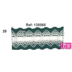 135065-28 GALON PASACINTAS NYLON GERMAN 30 MM. POLIAMIDA 100% BOTELLA/MARFIL VENTA EN PZAS DE 25 M APROX