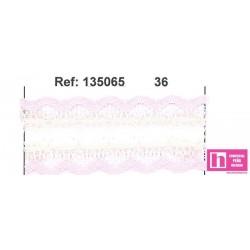 135065-36 GALON PASACINTAS NYLON GERMAN 30 MM. POLIAMIDA 100% ROSA/MARFIL VENTA EN PZAS DE 25 M APROX