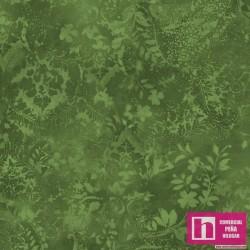 P17-MASQBD105-G PATCH.AMERICANO BEAUTIFUL BACKING VINTAGE DAMASK (15) 270 CM. ALG 100% VERDE VENTA EN PZAS. DE 7 M APRO