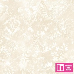 P17-MASQBD105-E PATCH.AMERICANO BEAUTIFUL BACKING VINTAGE DAMASK (07) 270 CM. ALG 100% CREMA VENTA EN PZAS. DE 7 M APRO