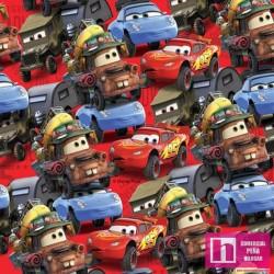 63423 TEJIDO ESTAMPADO CARS (01) 1.40 M. ALG. 100% MULTICOLOR VENTA EN PZAS. DE 6 M APRO