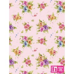 P121-LITD4158P PATCH. AMERICANO LITTLE DARLINGS (06)  110 CM. ALG 100% ROSA VENTA EN PZAS. DE 7 M APRO