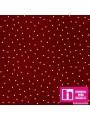 P0017-MAS8119-R6 PATCH. AMERICANO BEAUTIFUL BASICS-SCATTERED DOT (106) 110 CM. ALG 100% GRANATE/BLANCO VENTA EN PZAS. DE 7 M
