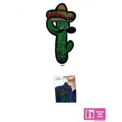 120700-0021 APLICACION TERMOADHESIVA CAPTUS MEXICANO 70 X 140 MM POLIESTER 100% VERDE VENTA EN BOLSAS DE 5 UD. APROX