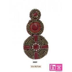 858139-0009 APLIQUE FANTASIA EGIPTO 5 X 10.7 CM ACRILICO 100% ROJO VENTA EN BOLSAS DE 5 UD. APROX