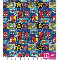 P86-13080033VS PATCH.AMERIC. SPIDERMAN OUTSIDE IN THE BOX () 110 CM. ALG 100% AZUL VENTA EN PZAS. DE 10 M APROX