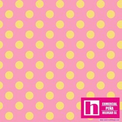 P17-MASF8227-PS PATCH. AMERICANO LITTLE ONE FLANNEL TOO (14) 110 CM. FRANELA ALG 100% ROSA/AMARILLO VENTA EN PZAS. DE 5,5 M