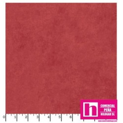 P17-MASQB410-R2 PATCH. AMERICANO BEAUTIFUL BACKING SUEDE TEXTURE (01) 270 CM. ALG 100% ROJO VENTA EN PZAS. DE 7 M APROX.