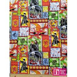 P108-23800141JAS-01 PATCH. AMERICANO HARRY POTTER STAINED WINDOWS () 110 CM. ALG 100% MULTI VENTA EN PZAS. DE 10 M APRO