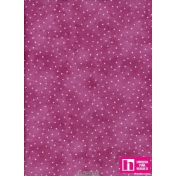 P0017-MAS8119-PE PATCH. AMERICANO BEAUTIFUL BASICS-SCATTERED DOT (115) 110 CM. ALG 100% MAGENTA/BLANCO VENTA EN PZAS. DE 7 M