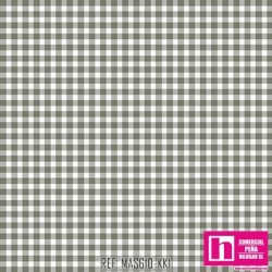 P0017-MAS610-KK1 PATCH. AMERICANO BEAUTIFUL BASICS-CLASSIC CHECK (48) 110 CM. ALG 100% MARENGO/BLANCO VENTA EN PZAS. DE 7 M