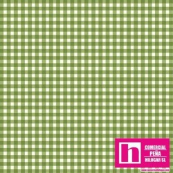 P0017-MAS610-G7 PATCH. AMERICANO BEAUTIFUL BASICS-CLASSIC CHECK (59) 110 CM. ALG 100% VERDE/BLANCO VENTA EN PZAS. DE 7 M