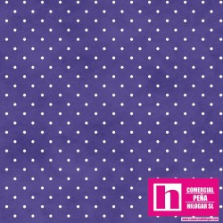 P0017-MAS609-VB2 PATCH. AMERICANO BEAUTIFUL BASICS-CLASSIC DOT (44) 110 CM. ALG 100% PURPURA/BLANCO VENTA EN PZAS. DE 7 M