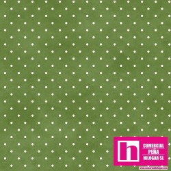 P0017-MAS609-GG4 PATCH. AMERICANO BEAUTIFUL BASICS-CLASSIC DOT (33) 110 CM. ALG 100% CESPED/BLANCO VENTA EN PZAS. DE 7 M