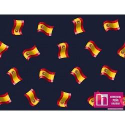 62669 TEJIDO ESTAMPADO SPAIN (1) 1.50 M. ALG 100% MARINO VENTA EN PZAS. DE 10 M APRO