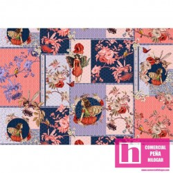 59286 PATCH. AMERICANO FLOWERS FAIRIES (07) PANEL 110 CM. ALG 100% MULTICOLOR VENTA EN PZAS. DE 6 M APROX.