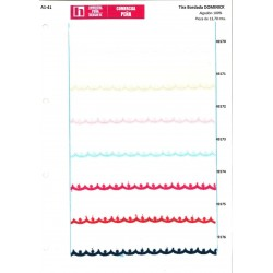 49170 907032-0001_DOMINICK TIRA BORDADA 25 MM. ALGODON 100% BLANCO VENTA EN PZAS. DE 13,7 M. APROX.