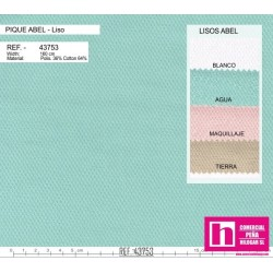 54229 ABEL PIQUE LISO (07) 1.60 MTS. ALG.88%-POL.12% ROSA BEBE VENTA EN PZAS. DE 10 M. APROX.