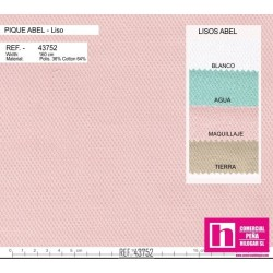 43752 ABEL PIQUE LISO (05) 1.60 MTS. ALG.88%-POL.12% MAQUILLAJE VENTA EN PZAS. DE 10 M. APROX.
