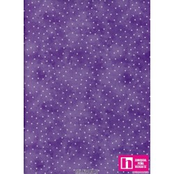 P0017-MAS8119-VE PATCH. AMERICANO BEAUTIFUL BASICS-SCATTERED DOT (116) 110 CM. ALG 100% MALVA/BLANCO VENTA EN PZAS. DE 7 M