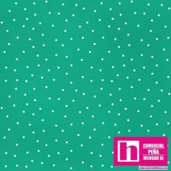 P0017-MAS8119-QG PATCH. AMERICANO BEAUTIFUL BASICS-SCATTERED DOT (113) 110 CM. ALG 100% VERDE/BLANCO VENTA EN PZAS. DE 7 M