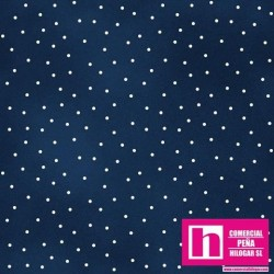 P0017-MAS8119-N PATCH. AMERICANO BEAUTIFUL BASICS-SCATTERED DOT (110) 110 CM. ALG 100% MARINO/BLANCO VENTA EN PZAS. DE 7 M