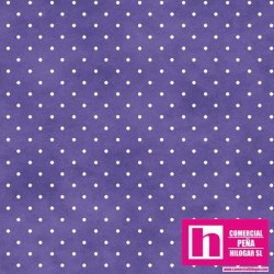 P0017-MAS609-VB PATCH. AMERICANO BEAUTIFUL BASICS-CLASSIC DOT (43) 110 CM. ALG 100% MALVA/BLANCO VENTA EN PZAS. DE 7 M APROX.