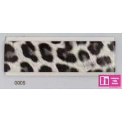 902068-20-5 BIES PERFILADO ANIMAL PRINTS 18 MM. PLORIVINILO 100% BLANCONEGRO VENTA EN PIEZAS DE 20 M. APROX