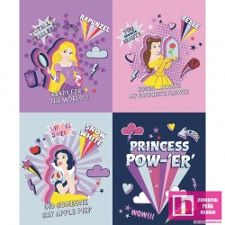 P108-85101605PL-01 PATCH. AMERICANO DISNEY PRINCESS POWER -  PANEL 110 CM. ALG 100% MULTI VENTA EN PZAS. DE 7 M. APRO