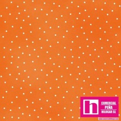 P0017-MAS8119-O2 PATCH. AMERICANO BEAUTIFUL BASICS-SCATTERED DOT (98) 110 CM. ALG 100% NARANJA/BLANCO VENTA EN PZAS. DE 7 M