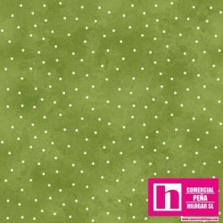 P0017-MAS8119-G5 PATCH. AMERICANO BEAUTIFUL BASICS-SCATTERED DOT (99) 110 CM. ALG 100% MUSGO/BLANCO VENTA EN PZAS. DE 7 M