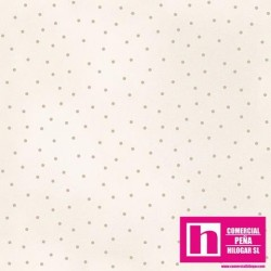 P0017-MAS8119-EA PATCH. AMERICANO BEAUTIFUL BASICS-SCATTERED DOT (87) 110 CM. ALG 100% NATURAL/BEIG VENTA EN PZAS. DE 7 M