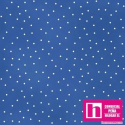 P0017-MAS8119-B2 PATCH. AMERICANO BEAUTIFUL BASICS-SCATTERED DOT (111) 110 CM. ALG 100% TINTA/BLANCO VENTA EN PZAS. DE 7 M