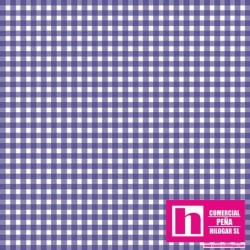 P0017-MAS610-VB2 PATCH. AMERICANO BEAUTIFUL BASICS-CLASSIC CHECK (80) 110 CM. ALG 100% LAVANDA/BLANCO VENTA EN PZAS. DE 7 M