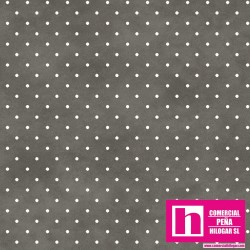 P0017-MAS609-KA2 PATCH. AMERICANO BEAUTIFUL BASICS-CLASSIC DOT (17) 110 CM. ALG 100% MARENGO/BLANCO VENTA EN PZAS. DE 7 M