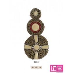 858139-0024 APLIQUE FANTASIA EGIPTO 5 X 10.7 CM ACRILICO 100% MARFIL VENTA EN BOLSAS DE 5 UD. APROX