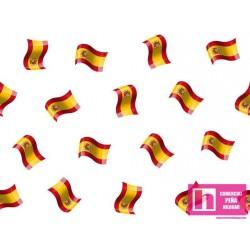 62670 TEJIDO ESTAMPADO SPAIN (2) 1.50 M. ALG 100% BLANCO VENTA EN PZAS. DE 10 M. APRO