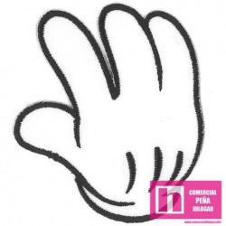 9924-A HANDS (04) APLICACION  TERMOADHESIVA 7 X 9 POLIESTER 100% BLANCO VENTA EN BOLSAS DE 5 UDS.