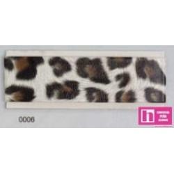 902068-20-6 BIES PERFILADO ANIMAL PRINTS 18 MM. PLORIVINILO 100% BLANCO/MARRON VENTA EN PIEZAS DE 20 M APROX