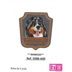 5098-A000 APLICACION TERMOADHESIVA BERNESSE 50X55 MM POLIESTER 100% GRIS VENTA EN BOLSAS DE 3 UD. APROX