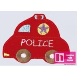 164584-0000 BABIES POLICE APLICACION TERMOADHESIVA 7X 5 POLIESTER 100% ROJO VENTA EN BOLSAS DE 5 UDS.