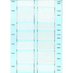 11036-003 BORDADO BATISTA POLIESTER 60%-ALG 40% BEIG VENTA EN PZAS. DE 13,8 M APROX.