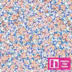 59284 PATCH. AMERICANO FLOWERS FAIRIES (05) 110 CM. ALG 100% MULTICOLOR VENTA EN PZAS. DE 6 M APROX.