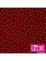 P0017-MAS8119-R6 PATCH. AMERICANO BEAUTIFUL BASICS-SCATTERED DOT (106) 110 CM. ALG. 100% GRANATE/BLANCO VENTA EN PZAS. DE 7 M