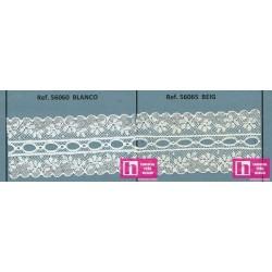 56060 MARTINELA GALON PASACINTAS VALENCIE 35 MM. ALGODON 90%-NYLON 10% BLANCO VENTA EN PZAS. DE 20 M. APROX.