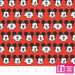 P108-85271005-03 PATCH. AMERICANO DISNEY ITS A MICKEY THING - 110 CM. ALG. 100% ROJO VENTA EN PZAS. DE 7 M APRO